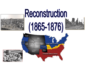Reconstruction Notes