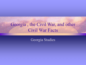 Georgia, the Civil War, & Other Facts