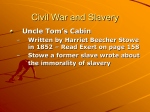 Fugitive Slave Act – did not allow anyone that had escaped a trial
