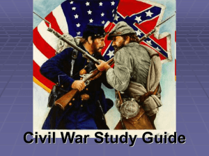 Civil War Study Guide - Effingham County Schools