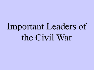 The Important People of the Civil War