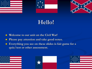 Hello! Welcome to our unit on the Civil War!
