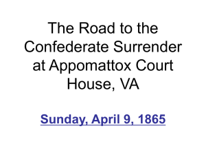 The Road To Appomattox (Filled Out)