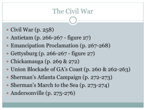 b. state the importance of key events of the civil war