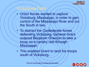 Union Victories in the South (cont.)