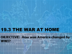 OBJECTIVE: How was America changed by WWI?
