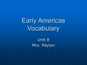 Early Americas Vocabulary