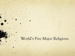 World's Five Major Religions