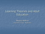 Learning Theories and Adult Education