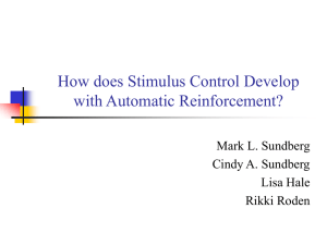 How does Stimulus Control Develop with Automatic