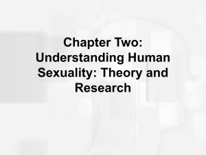 Chapter Two: Understanding Human Sexuality: Theory and