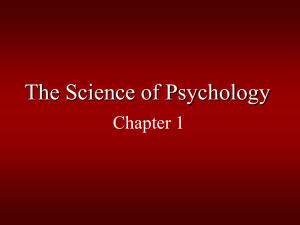 The Science of Psychology - Columbus State University