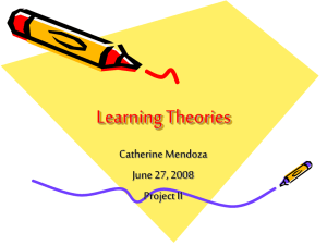 Learning Theories - Office of Distance Education