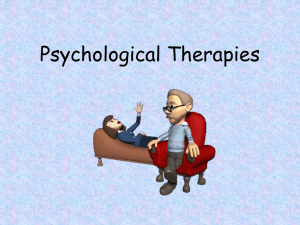 Psychological Therapies