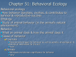 Chapter 51: Behavioral Ecology - Phelps