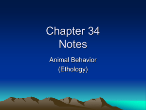 Animal behavior Unit