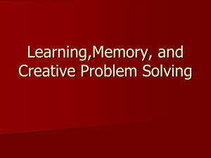 Learning and Memory PP