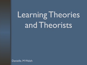 Learning Theories and Theorists