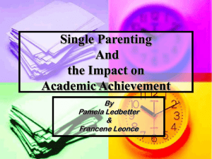 Single Parenting and Academic Achievement