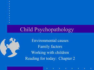 J15 Environment and working with children