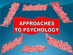 Approaches to Psychology presentation