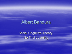 Albert Bandura - Personal Web Pages