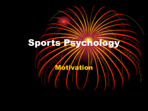 Motivation - Flow in Sports