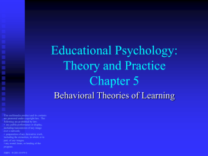 5 Behavioral Theories of Learning