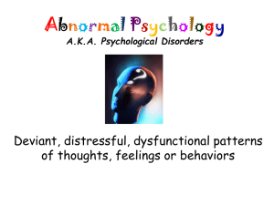 Abnormal Psychology - Solon City Schools