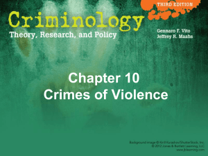 Chapter 10 Crimes of Violence