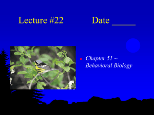 Lecture #22 Date - Biology Junction