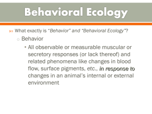 Lec 2 Introduction to Behavioral Ecology_ Lec 2