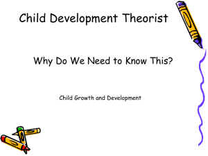 CHild Growth Notes on history and developmental theorists