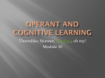 Operant and Cognitive Learning