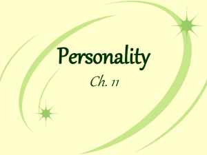 Ch. 11 Personality Notes doc