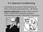 9.2 Operant Conditioning