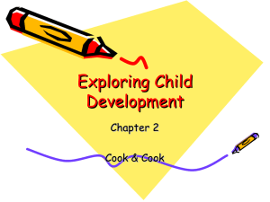 Exploring Child Development Chapter 2 Cook & Cook