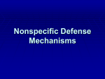 Nonspecific Defense Mechanisms