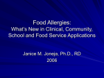 Part 1: Mechanisms and Management of Food Allergies