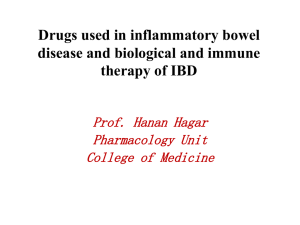 Lecture 5 - Drugs used in inflammatory bowel disease