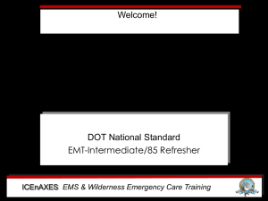 EMS & Wilderness Emergency Care Training