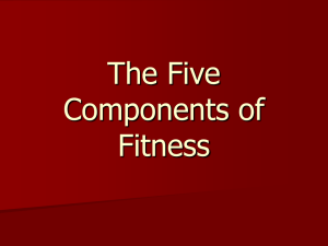 The Five Components of Fitness