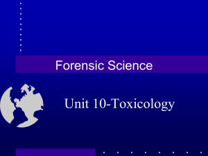 Unit 10-Toxicology