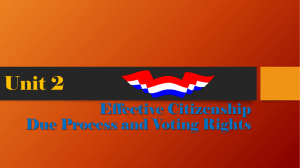 Due Process-Voting Rights Powerpoint