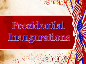 Presidential Inaugrations