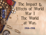 World War I: The Effects of the War at Home & Abroad