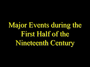 Major Events 1800-1850