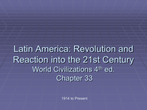 Latin America after WWII - University High World History