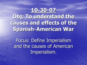 The Spanish – American – Cuban War