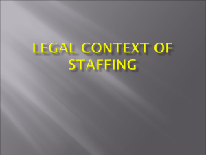 Legal Context of Staffing